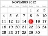 November koledar